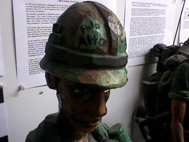 Hardy says that he recalled the man being from Cali but not Palo Alto until years later, looking at the photo and noticing the helmet graffito