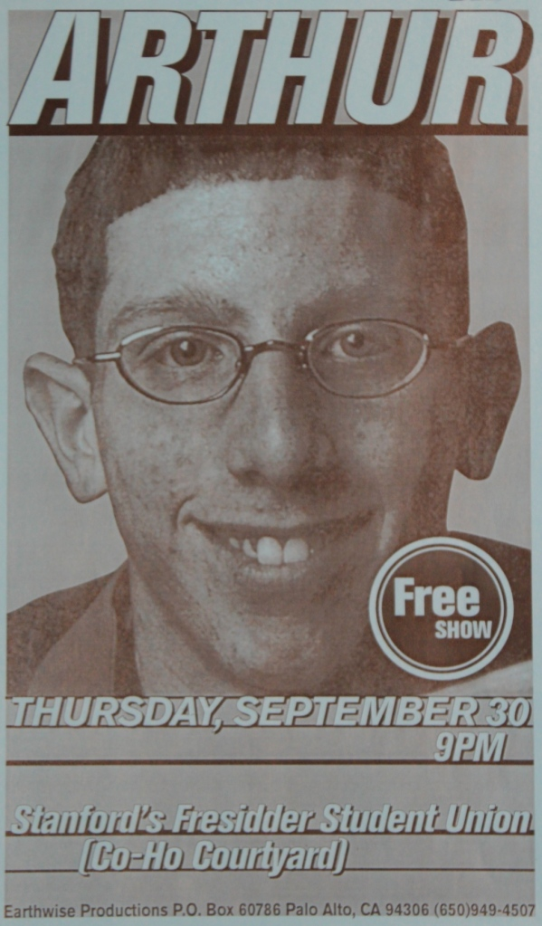 Before Tamir Goodman was a pro baller, he fronted a Christian emo band called Arthur, a spinoff of MXPX (flyer)