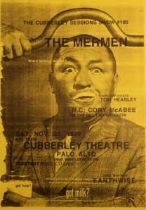 the only thing to say about this is that jim thomas had just cut his hair -- there's another poster for a Mermen show by Lynn Grant (flyer)