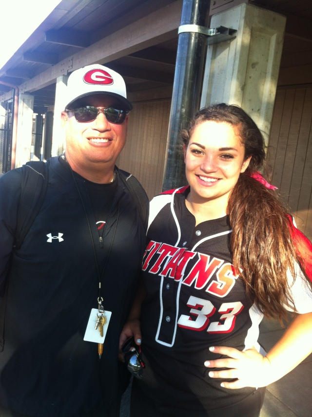 Matt Maltz, class of 1982 and daughter Casey, 2013; photo by dad's teammate and homeslice, MBW
