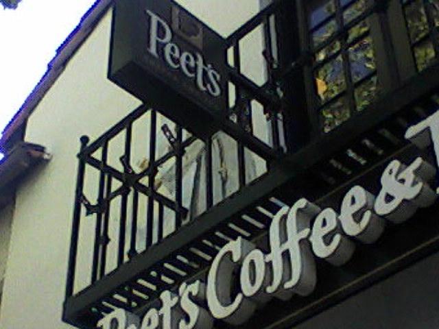 Peet's facade on University Avenue, Palo Alto