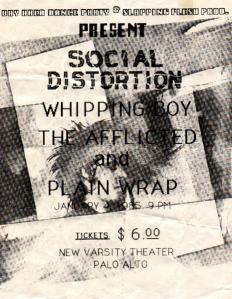 vintage Varsity punk flyer
