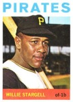 64 Topps Willie Stargell -- my headline alludes  to the fact that the Pirates slugger, from Oakland, has a daughter Precious who was a year ahead of my at Dartmouth