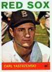64 Topps Yastrezemski, Carl -- I believe I have all the Topps Yaz's ever released, including two rookie cards, 1960 and 1961 I think