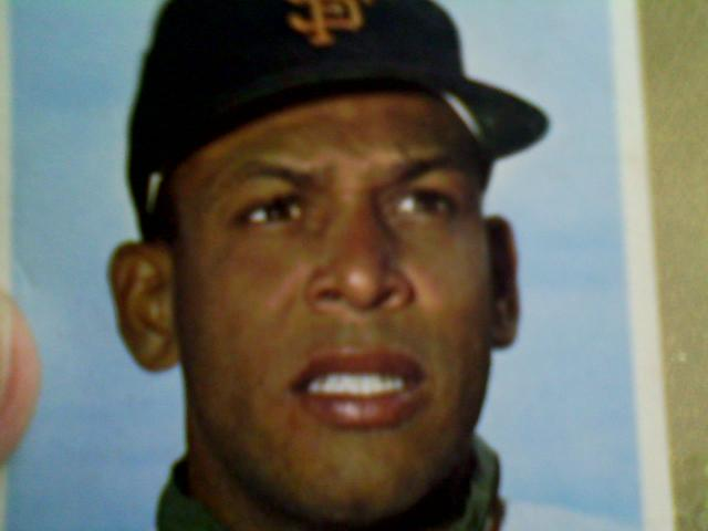 1964 Orlandgo Cepeda Topps trading card, although the Cal Tjader song, featuring Vince Guarlaldi, was recorded live in San Francisco, in fall, 1958, the slugger's rookie season.