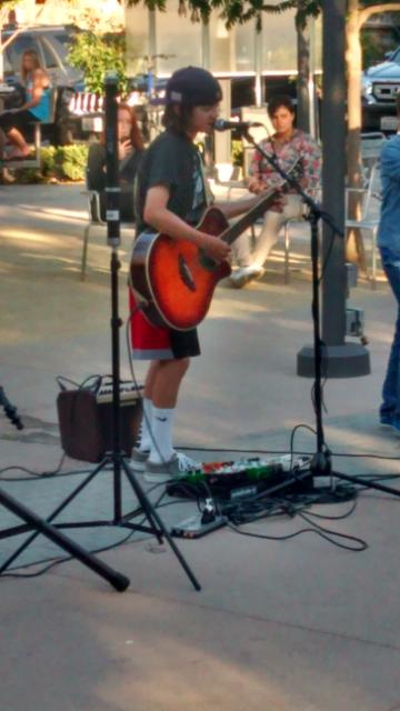 Unnamed young guitar whiz, Lytton Plaza, summer 2014