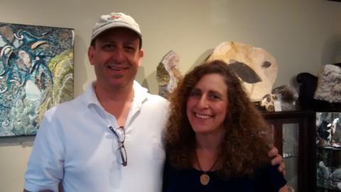 Mark Weiss and Carol Garsten, August, 2014, photo by Beth, her customer