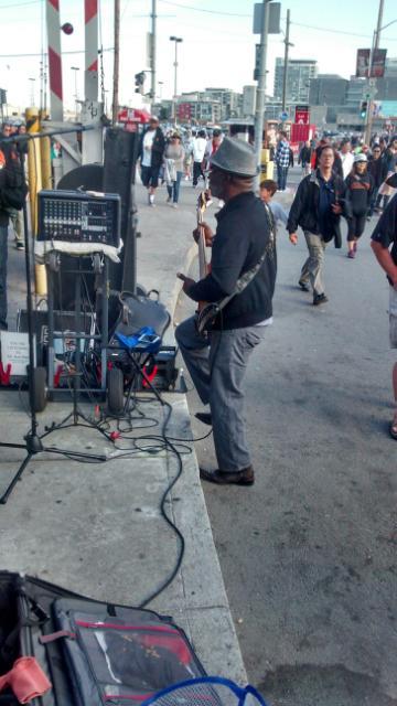 San Francisco street musician, July, 2014 perhaps channeling Jesse Fuller