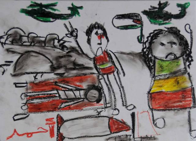 Child art from Gaza published in New York Times