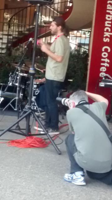 Gunn grad Josh Thurston Milgrom on his second instrument the egg shaker