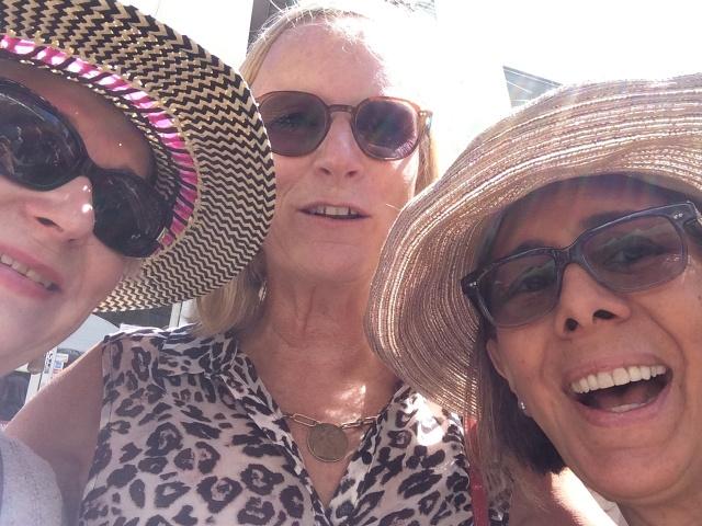 Ida Davis, Nancy Shepherd, Terry Acebo Davis selfie at Palo Alto Festival of The Arts, August, 2014