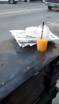 Giving actual leadership -- for now -- wide berth I was relegated to al fresco enjoyment of my orange juice and croissant