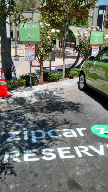Zipcar means the loss of 10 parkings spots, two here at Lot N Lytton Plaza and further erosion of the distinction between public sector and our corporate colonizers, thanks to Nancy and Jim