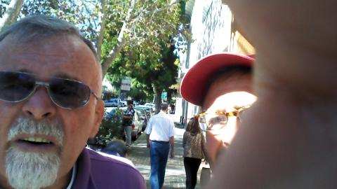 Jim Mahon and Mark Weiss Palo Alto and ex-Worcesterites, 2014 slefies