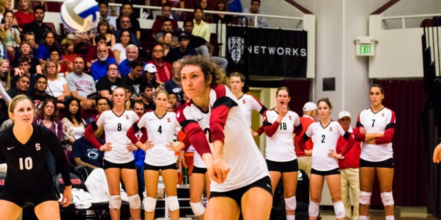 Stanford vb Jordan Burgess courtesy of Stanford Daily and the number 800