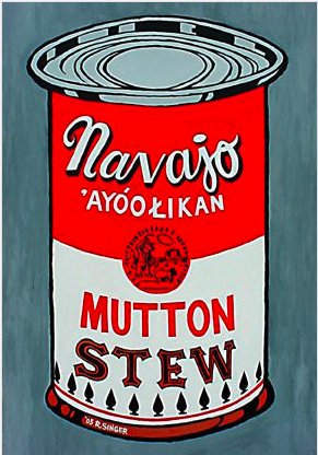 ryan singer is navajo painter and pop artist, i met in santa fe, made this stew