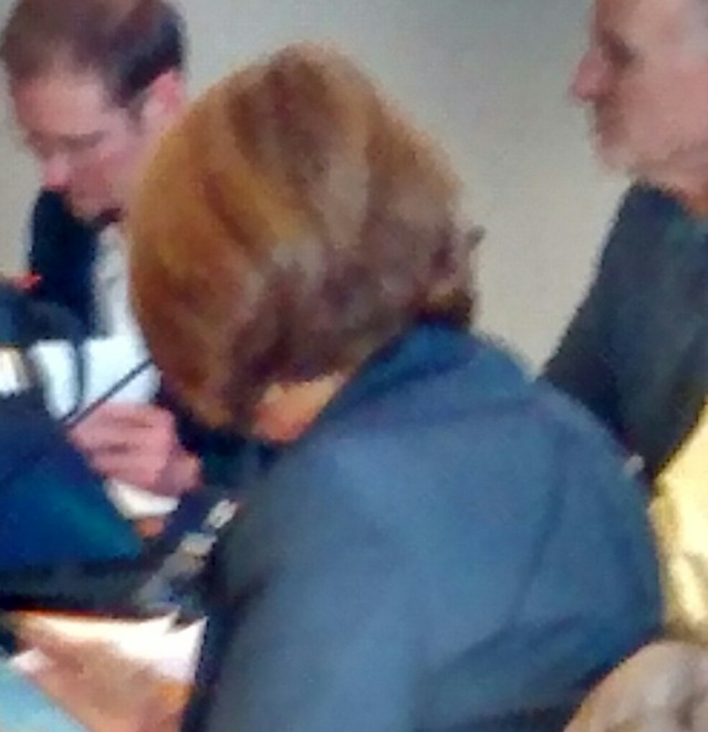 Liz Kniss who talked thru my address to council, despite the fact that I referenced her