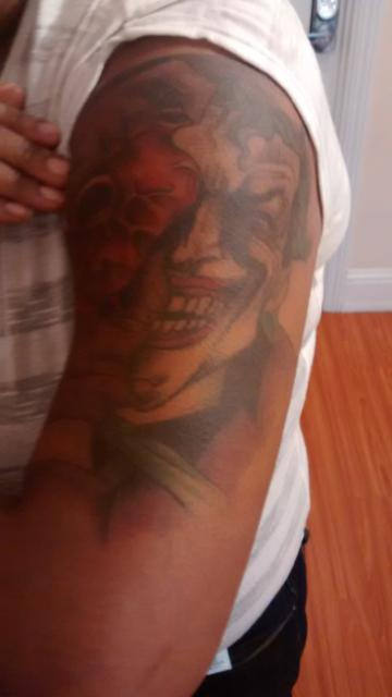rather put the $11.7 M towards subsidizing Palo Alto Downtown's hourly workers, like this retail clerk, and her The Joker tattoo, fall, 2014 on the down low