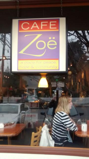 "Cafe Zoe in Menlo Park, about 8 hours before load-in, or as I like to say ""Keep calm and jerry han- on"""