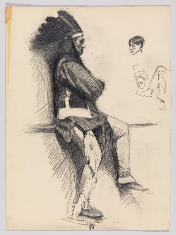 Hopper drawing, in Whitney archive: looks like the same subject as directly above