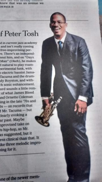 New York Times ushers up James Brandon Lewis, on Okeh Records
