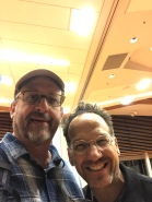 Earthwise founder Mark Weiss and drummer/bandleader Scott Amendola, October, 2019, at The Mitch